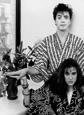 Robert Downey Jr. and Sarah Jessica Parker (photographed by Bette Marshall in NYC ~ 1983)
