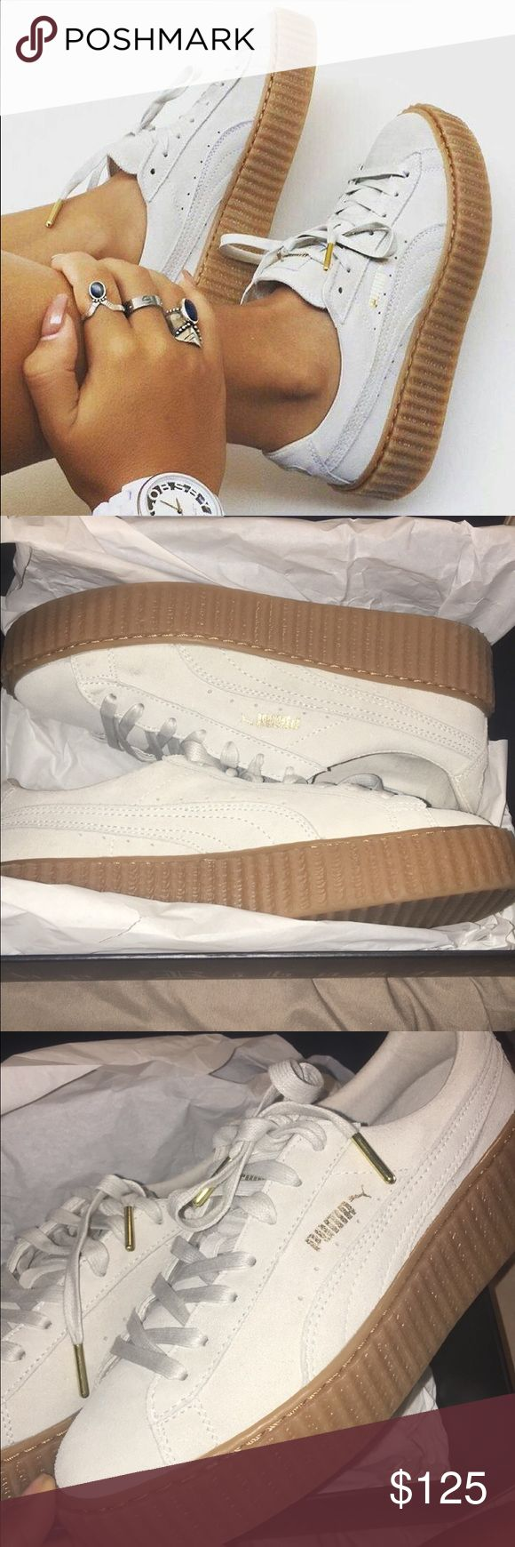 Fairly new Puma Rihanna Creepers White/Oatmeal Rihanna Creepers. Also listed on Ⓜ️erc Puma Shoes Sneakers