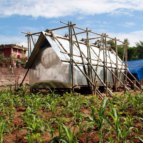 Techtonics and the architecture of need. Temporary shelters for Nepal earthquake victims by Charles Lai and Takehiko Suzuki.