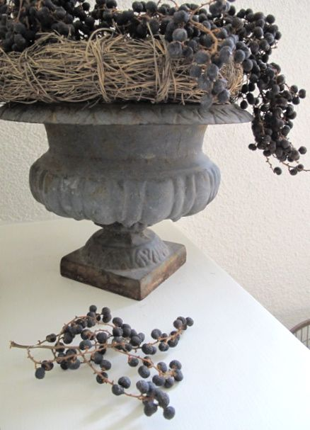 French vase with dates