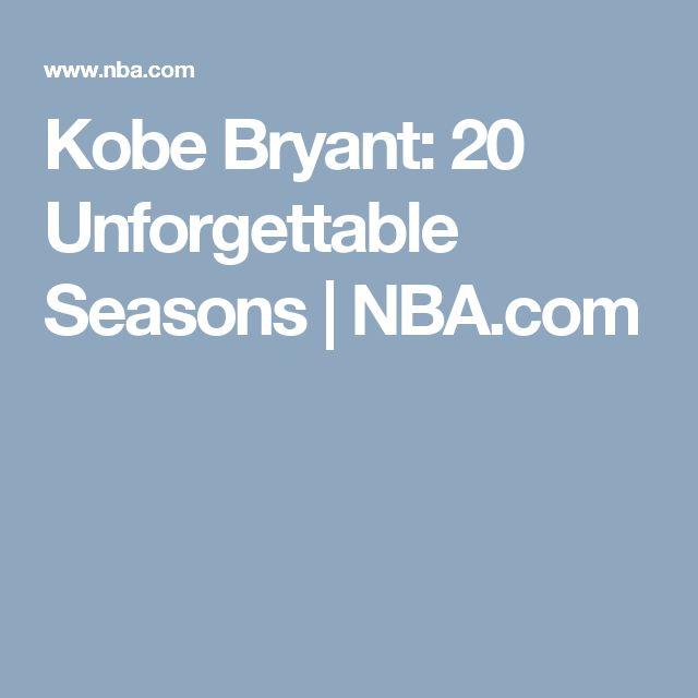 Kobe Bryant: 20 Unforgettable Seasons | NBA.com