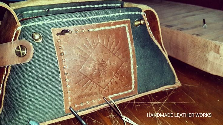 HANDMADE LEATHER WORKS LEATHER & CANVAS POUCH