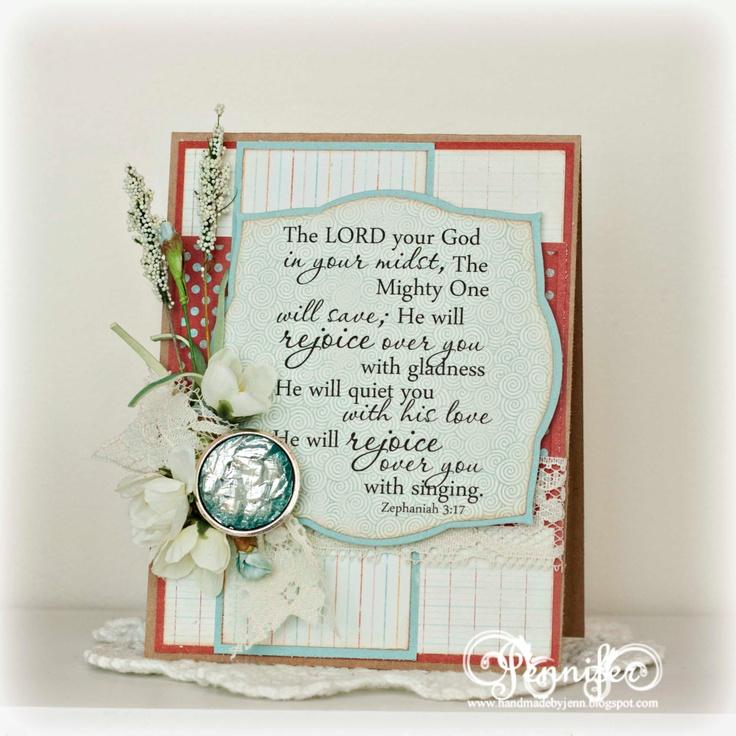 17 Best Images About Card Sentiments On Pinterest: Handmade Scripture Card, Zephaniah 3:17, Inspirational