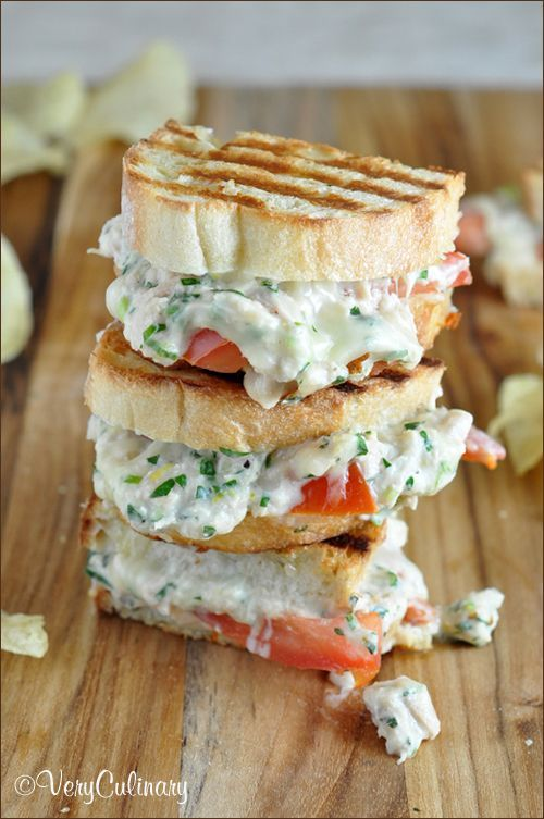 Lemony Herb Tuna Melt with Fontina and the Greatest Sandwich Recipes Ever!!