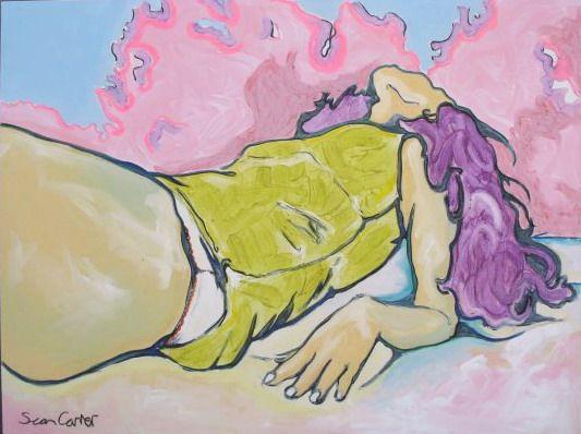 Sunkiss beach girl canvas