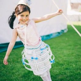 Check out this truly unique crinoline for little girls. Hand-crafted in London using vintage ribbons. £145