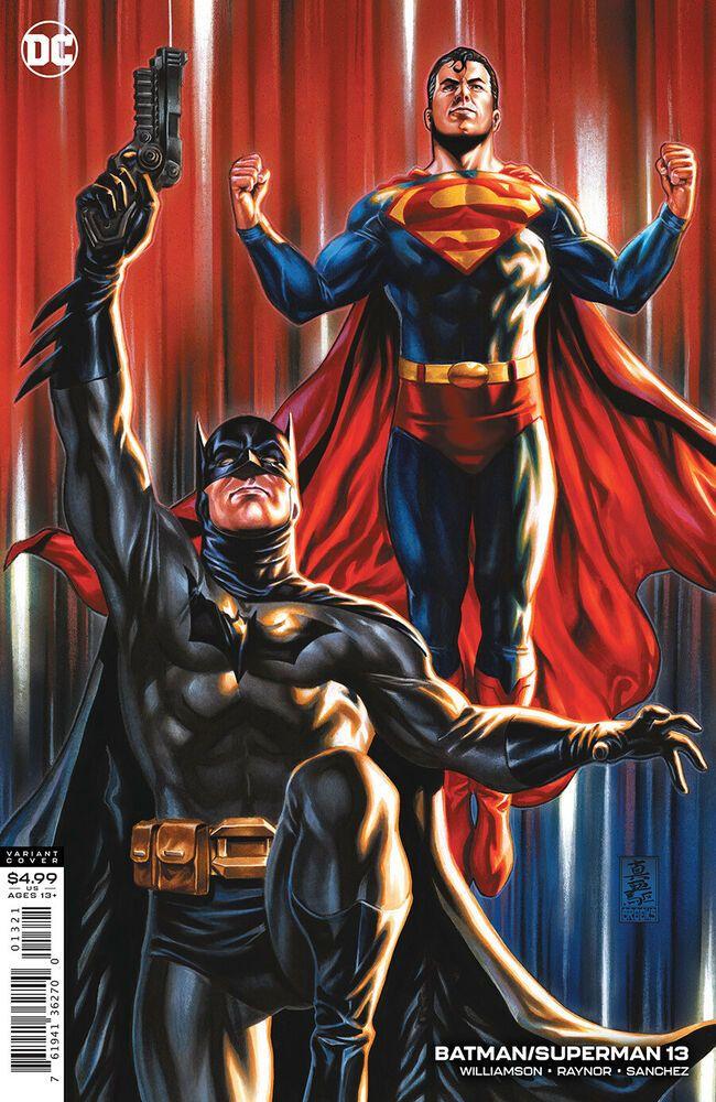 Batman Superman 13 Variant Batman And Superman Batman Dc Comics Artwork
