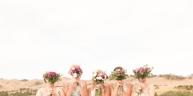 Gorgeous Michelle and her bridesmaids at Flowerdale Estate on her wedding day - agent 86 photography