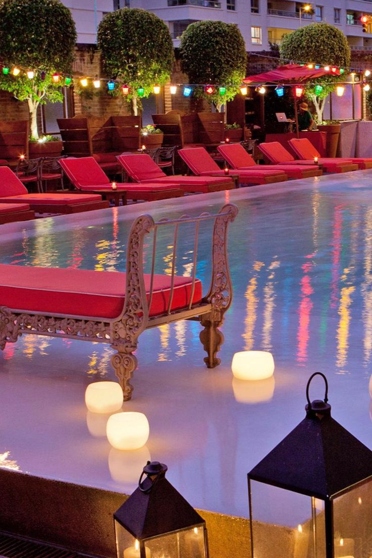 The hip Faena Hotel attracts trendsetters with nighttime hotspots like the intimate pool area. Faena Hotel Buenos Aires (Buenos Aires, Argentina) - Jetsetter
