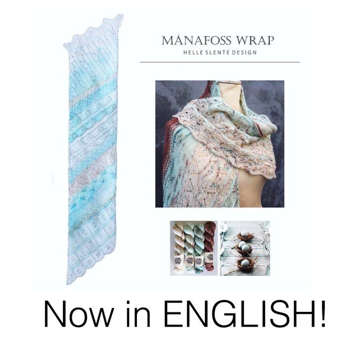 Månafoss Wrap - finally in English | Ravelry pattern | lace knitting