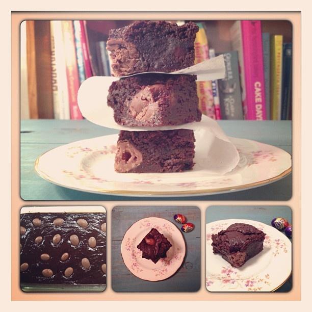 Cadbury Creme Egg Brownie... tomorrow's recipe ;)