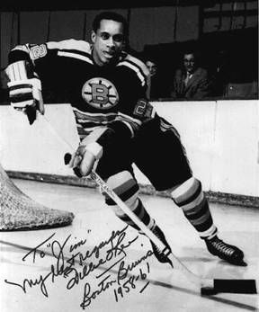 Willie O'ree. 1st black guy in the NHL, drafted by the Boston Bruins <3 blind in one eye but never told anyone for years in fear of getting kicked out of the NHL.