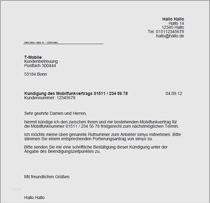 19 Suss Rufnummernmitnahme Vorlage Pdf Ebendiese