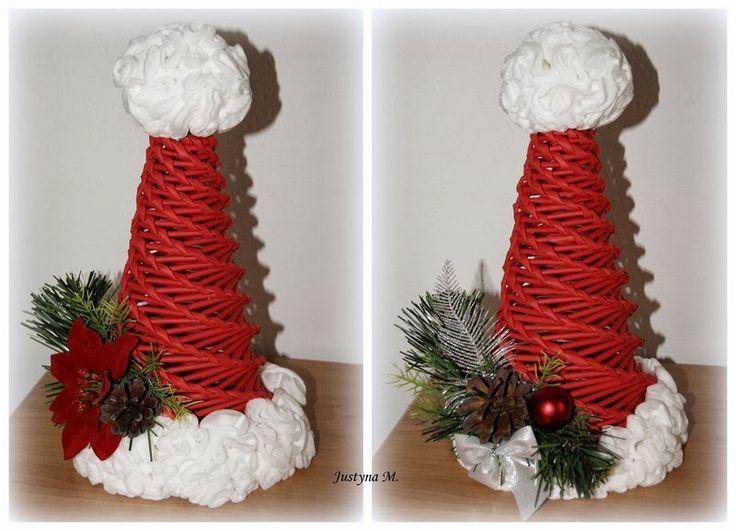 Justyna M.: Świąteczna papierowa wiklina..:)