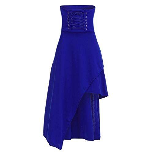 8bbbbe6013a8d Qiusa Frauen Retro Verband Zip hohe Taille unregelmäßigen gotischen ...