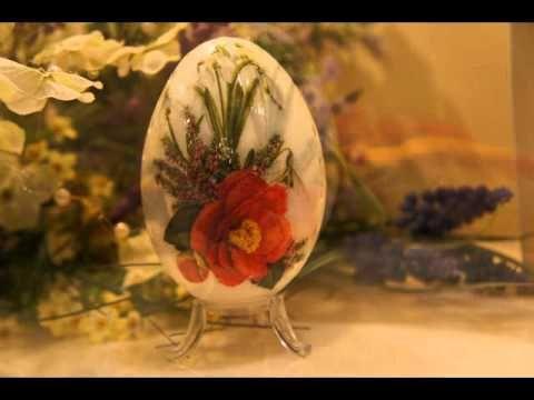 Pisanka decoupage retro # Easter egg DIY - YouTube