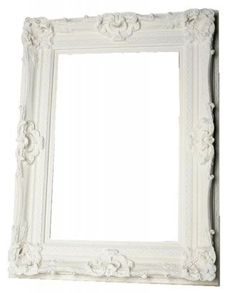 Ornate Ivory Bevelled Mirror | Country Interiors