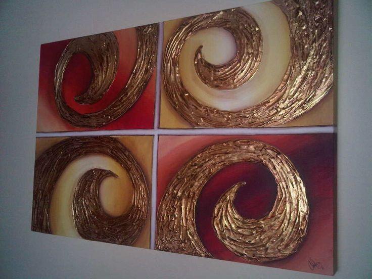 17 mejores ideas sobre arte lienzo con textura en for Imagenes de cuadros abstractos con acrilicos