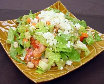 Sorelle Grapevine: Feta Cheese Salad in Vinaigrette Dressing