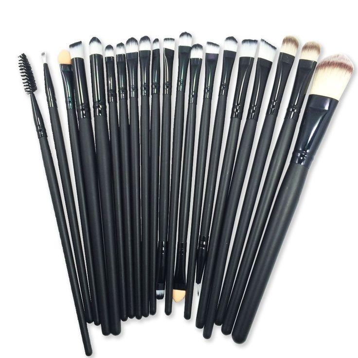 Pro 20Pcs Paintbrushes of Makeup Professional eye shadow brushes Set Powder Foundation Eyeshadow Eyeliner Lip Brush Tools #B20