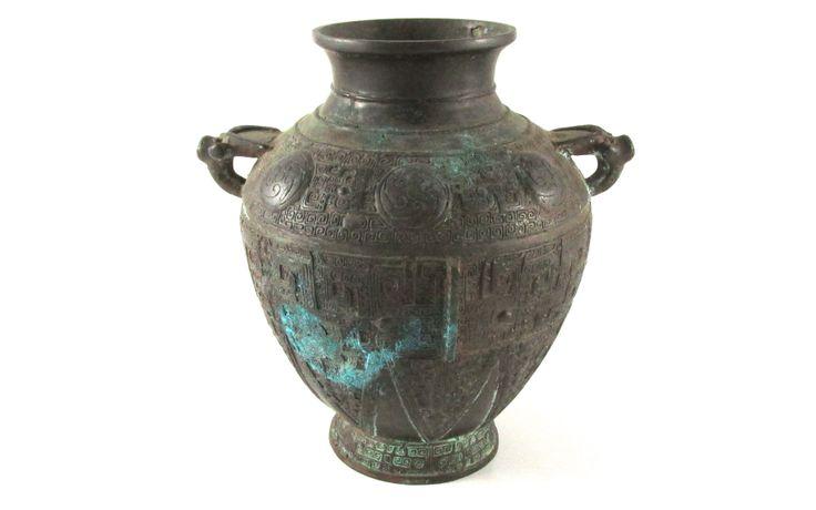 c1800 Chinese Bronze Vase