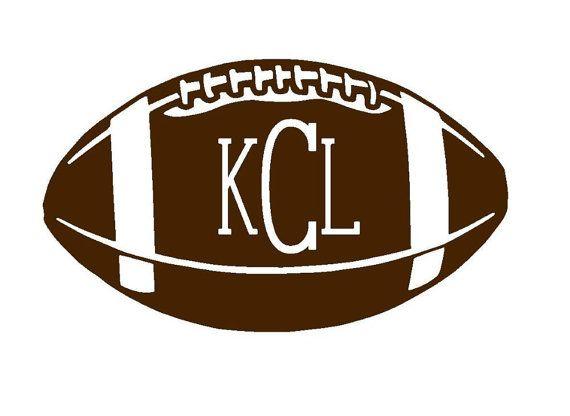 Football Monogram Iron On Football Iron On by MonogrammedMommies