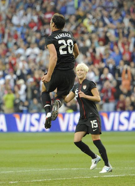 Abby Wambach and Megan Rapinoe Photo - United States v Canada