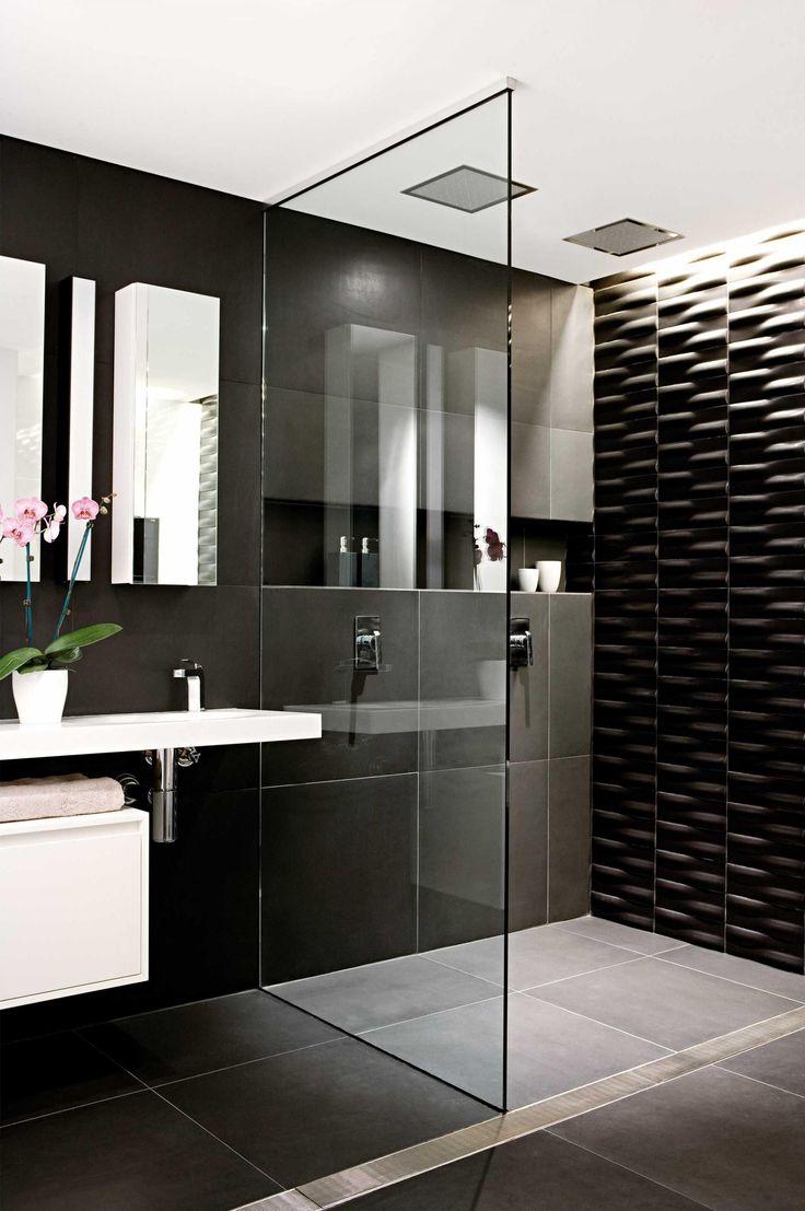 baños blanco negro #decoracionbañosmodernos #decoraciondebaños