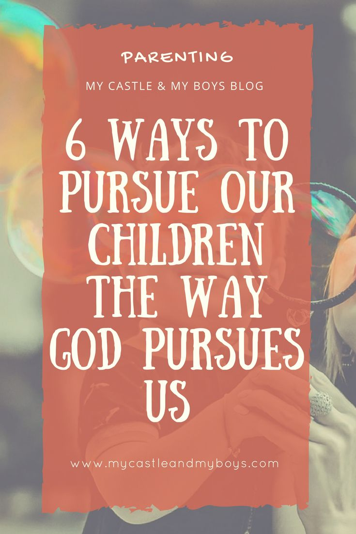 Are you pursuing your children?  Do you know how God pursues us? We have a perfect Father who is the perfect role model for us in parenting!  Let's learn the way God pursues us so that we can in return pursue our children the same way.