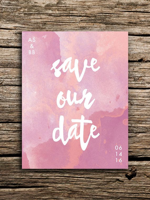 These bohemian watercolor save the dates are adorable! Boho pink save the dates by @factorymade