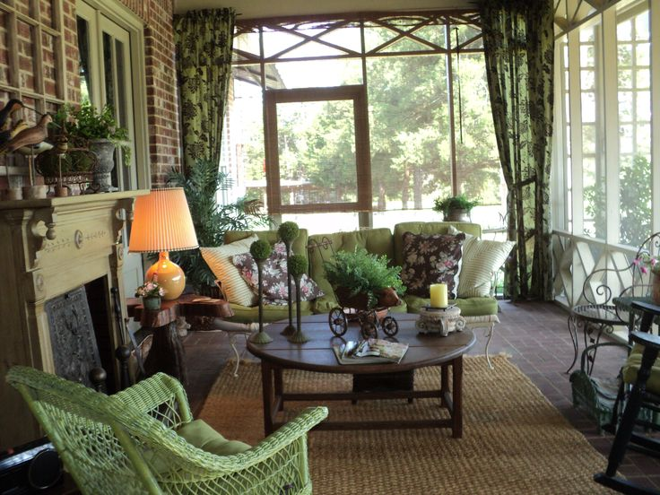 My cozy country porch  Outdoor Living Porches  Patios