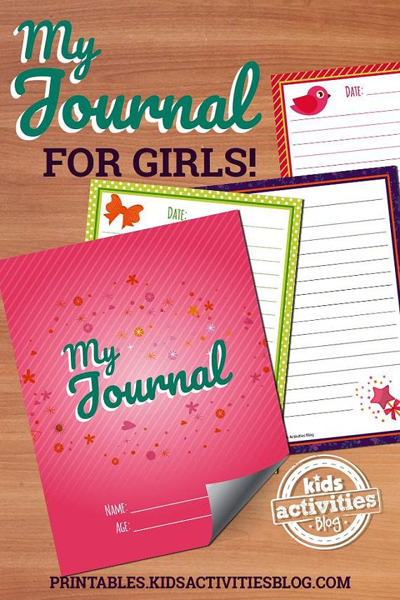 get girls excited about writing with this printable journal for kids it features 30 printable