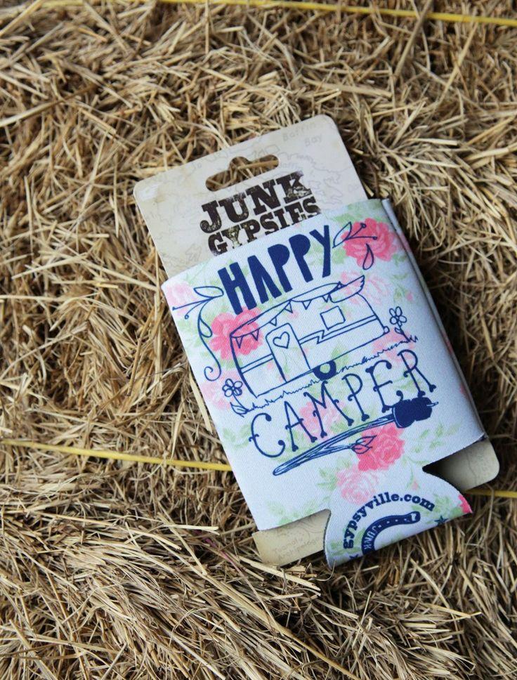 HAPPY CAMPER CAN COOLER - Junk GYpSy co.