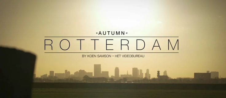 Rotterdam in four seasons. This is Part 1: Autumn. You like it? Share it!  Shot with GH4 and lumix lenses