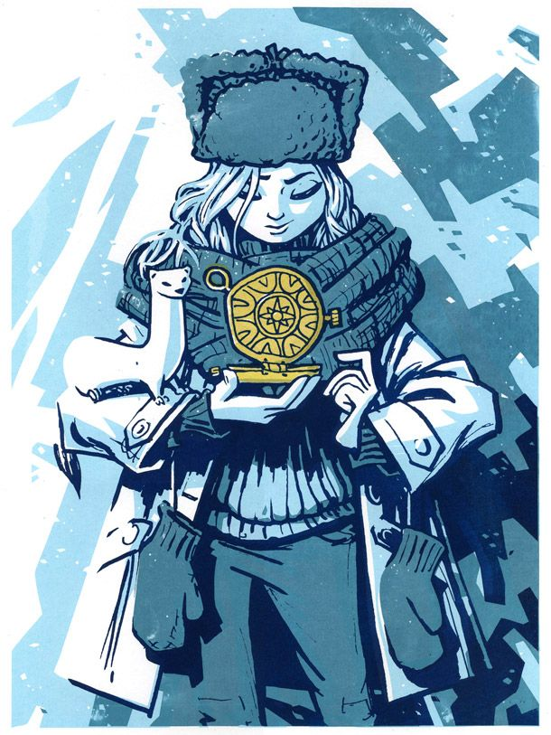 Lyra Belacqua Illustration - Rory Phillips from Philip Pullman's trilogy 'His Dark Materials' | GoGo Picnic