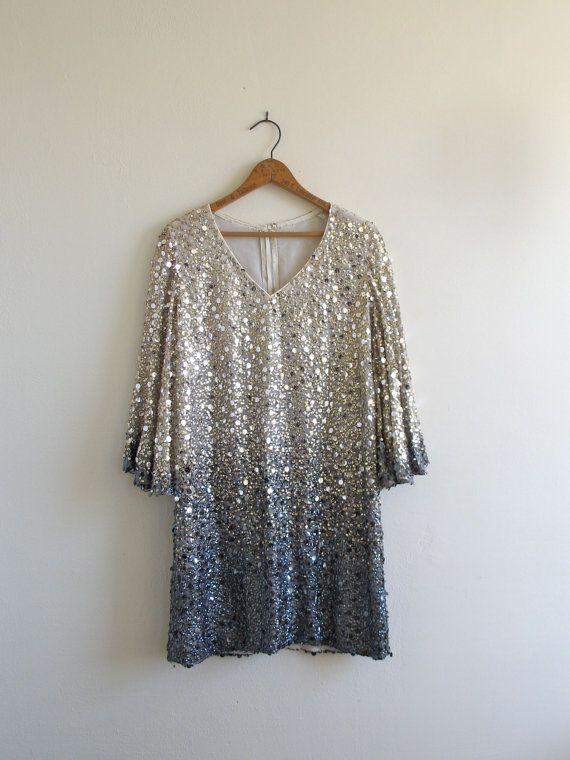 Sequin Gold to Silver Degrade Dress by TheElmsVintage on Etsy