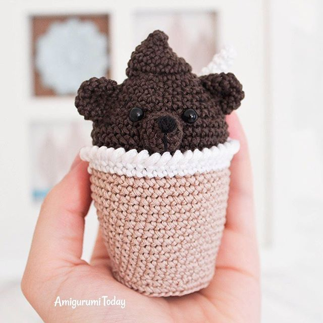 Today we introduce another fun-to-make amigurumi pattern which will help you to create absolutely adorable and unusual gift - amigurumi creamy choco bear 🍧🍦🐻🎈 #amigurumi #chocolate #crochet #giftideas #patterns #crocheting #chocoholic #amigurumipattern #diy #howto #crochetproject #amigurumis #amigurumifood