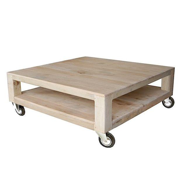 Coffee Table Palette 4 Wheels