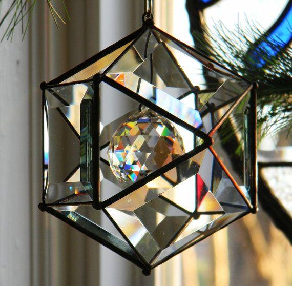 5 pollici ornamento Orb con accento di sfera di cristallo 40mm.