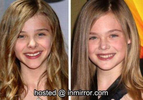 celebs that look alike Chloe Grace Moretz vs Elle Fanning