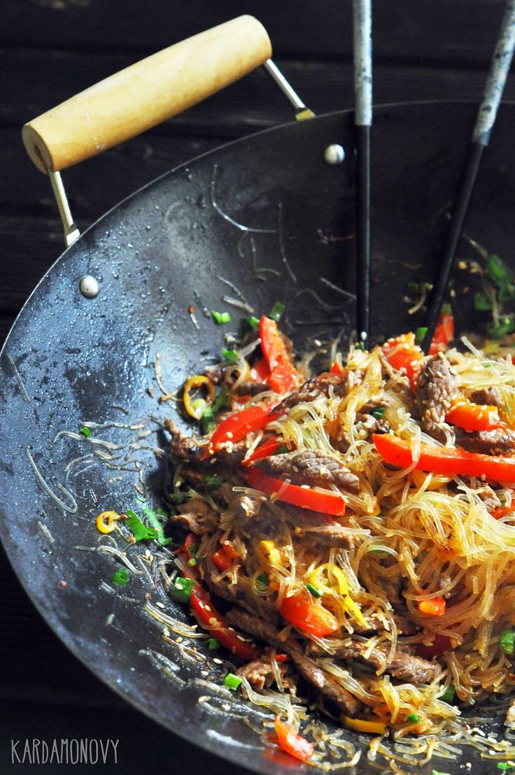Kardamonovy: Wołowina z makaronem po chińsku