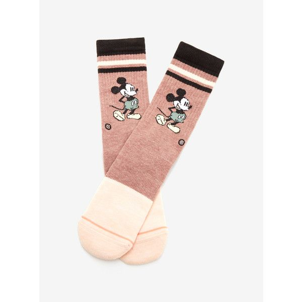 Disney Stance Mickey Mouse Vintage Mickey Socks (5.693 KWD) ❤ liked on Polyvore featuring intimates, hosiery, socks, seamless socks, vintage socks, vintage hosiery, no seam socks and mickey mouse socks