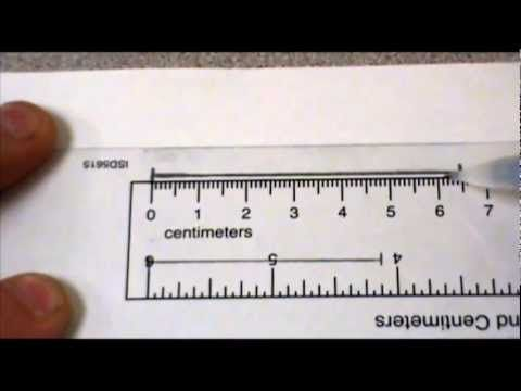 Measuring to the nearest cm and mm - YouTube