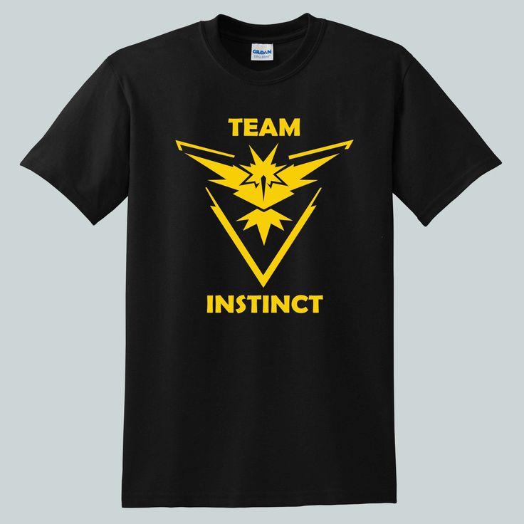 Pokemon+Go+Team+Instinct+Anime+for+shirt+black,+tshirt+black+unisex+adult