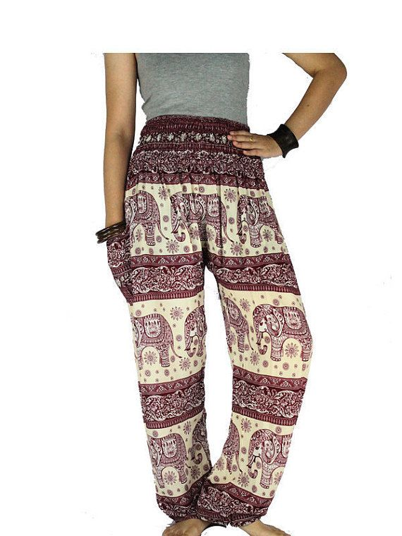 Gypsy pants Yoga pants Hippie pants  Elephant by LaOngDaoShop