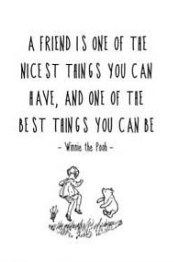 winnie the pooh quote nursery print quote friend inspiration