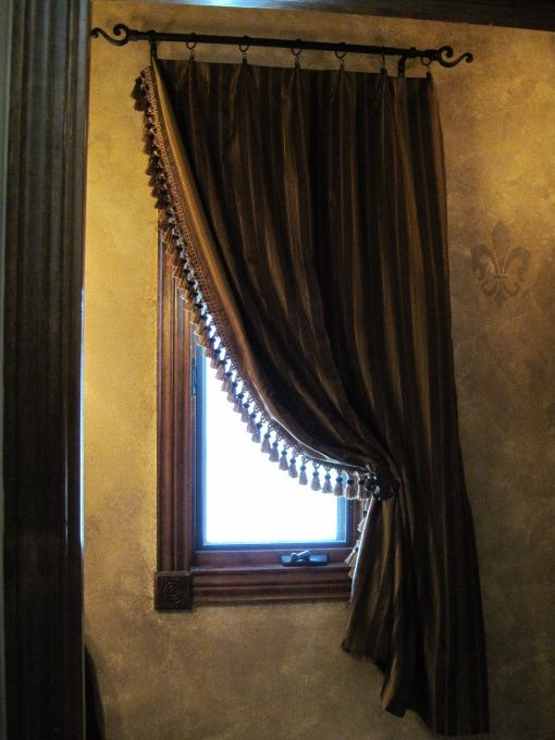 Old World Window treatment
