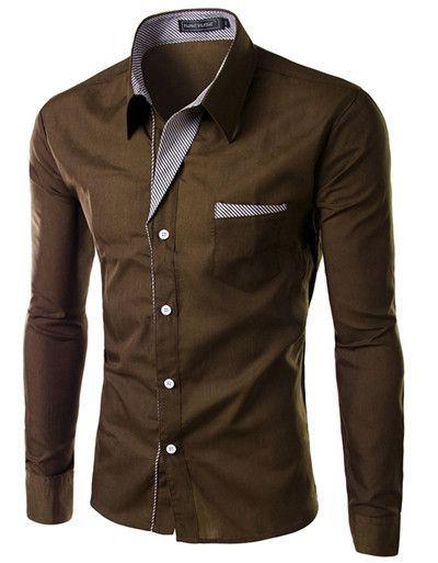 Quality Long Sleeve Shirt Men Dress Shirt.13 colors