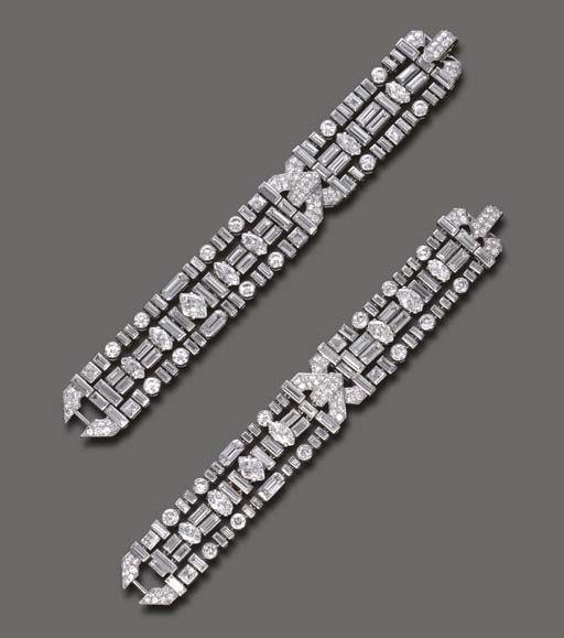 Doris Duke bracelets. Art Deco by Cartier