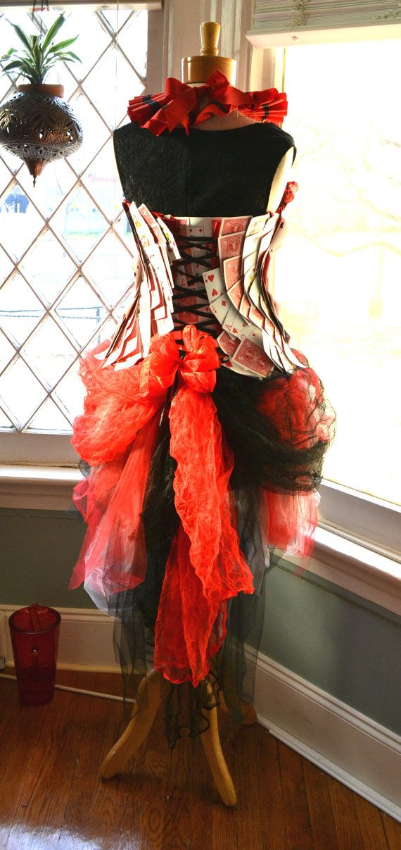 Queen of hearts costume (back)
